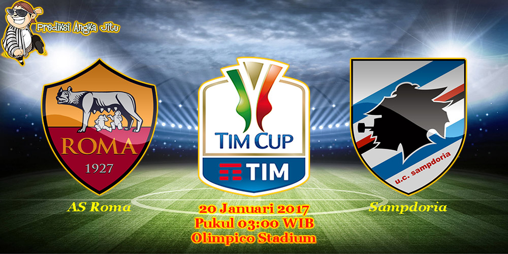 Prediksi AS Roma vs Sampdoria (Coppa Italia) 20 Januari 2017
